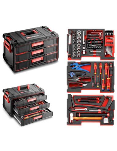 module de rangement 3 tiroirs toughsystem composition 3 modules m. Black Bedroom Furniture Sets. Home Design Ideas
