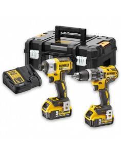 Kit 2 outils XR 18V 5Ah Li-Ion Brushless DCD796 + DCF887 - DCK266P2T - Dewalt