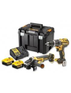 Kit 2 outils XR 18V 5Ah Li-Ion Brushless DCD796 + DCG405 - DCK2080P2T - Dewalt