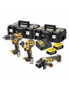 Kit 3 outils XR 18V 5Ah Li-Ion Brushless DCD796 + DCF887 + DCG405 - DCK384P2T - Dewalt