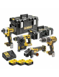 Kit 4 outils XR 18V 5Ah Lion Brushless DCG405 + DCH273 + DCD796 + DCF887 - DCK422P3 - Dewalt
