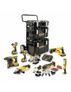 Kit Premium 8 outils XR 18V 5Ah Lion : DCD996 + DCF887 + CS570 + DCS355 + DCL050 + DCG405 + DCH273 + DCS367 - DCK853P4 - Dewalt