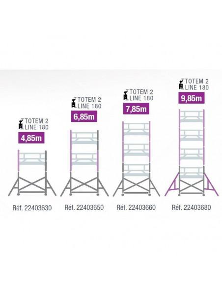 Echafaudage TOTEM 2 LINE 180 4M85 - 22403630 - Tubesca