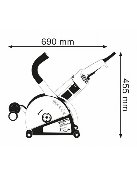 Rainureuse à béton GNF 65 A - 0601368703 - Bosch