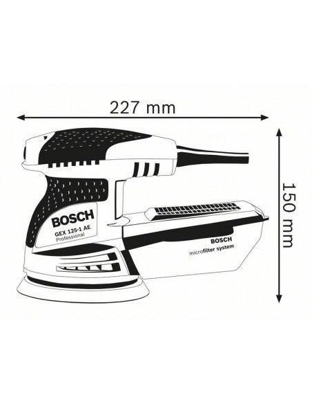 Ponceuse excentrique GEX 125-1 AE Microfiltre - 0601387500 - Bosch