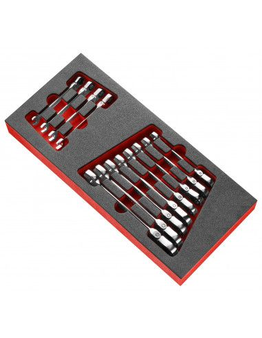 Module mousse 12 clés mixtes à cliquet articulées métriques - MODM.467BFJ12 - Facom
