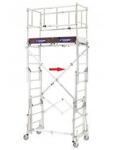 Diagonale pour échafaudage X-TOWER 3.00m - 20405040 - Tubesca
