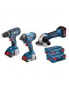 Pack 3 outils 18V Perceuse + Visseuse + Meuleuse - 0615990K4K - Bosch
