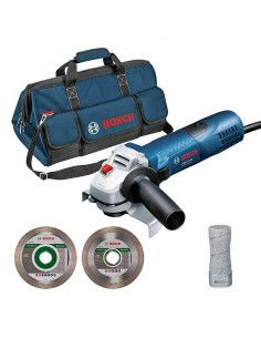 Pack meuleuse GWS 7-125 + 2 disques diamant + 1 sac de transport - 06159975H2 - Bosch