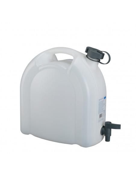 Jerrycan à eau avec robinet 10 litres empilable HDPE | 21173 - Pressol