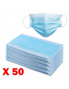 Masques respiratoires chirurgicaux de protection jetable 3 plis type 1 (boite de 50) | 270-4000