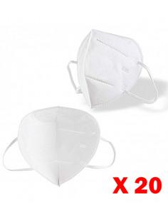 Masque de protection respiratoire type FFP2 norme KN95 (boite de 20) | CV-FFP2-STD-X20