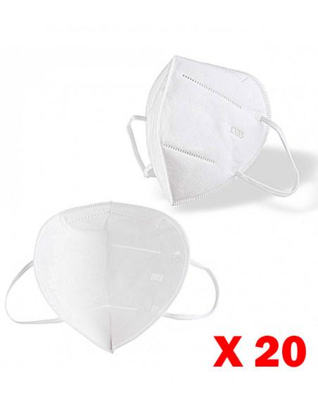 Masque de protection respiratoire type FFP2 norme KN95 (boite de 20)   CV-FFP2-STD-X20