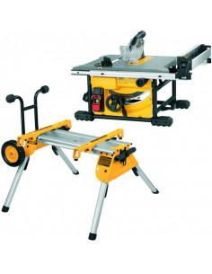 Scie sur table compacte 210 mm 1850W + Piétement à roulettes DE7400 | DWE7485RS - Dewalt