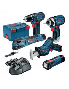 Pack 5 outils sans fil 12V + 3 batteries 12V 2.0Ah L-boxx | 0615990K11 - Bosch