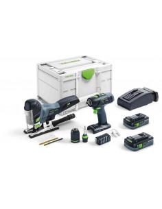 Pack perceuse visseuse T 18+3 + scie sauteuse pendulaire PSC 420 I-Set | 576529 - Festool