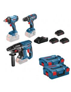 Pack 3 outils 18V Perceuse visseuse - Boulonneuse - Perforateur | 0615990M0V - Bosch