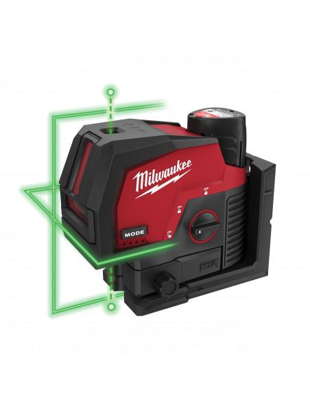 Laser vert 2 lignes avec aplomb M12 CLLP-301C | 4933478100 - Milwaukee