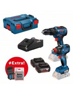 Pack 2 outils 18V 4.0Ah Visseuse à chocs + Perceuse-visseuse à percussion | 0615990L7E - Bosch