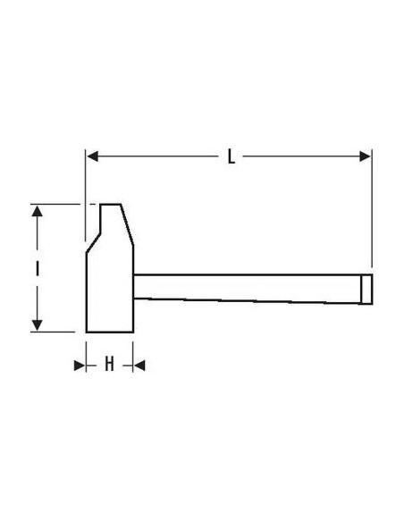 Marteau rivoir bois 30 mm   E154667 - Expert by Facom