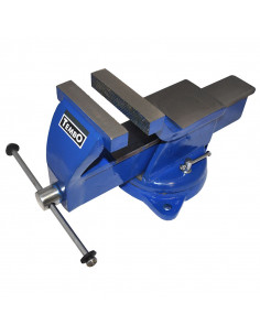 Etau acier à base tournante 125 mm | TEMBO 125 - Dolex
